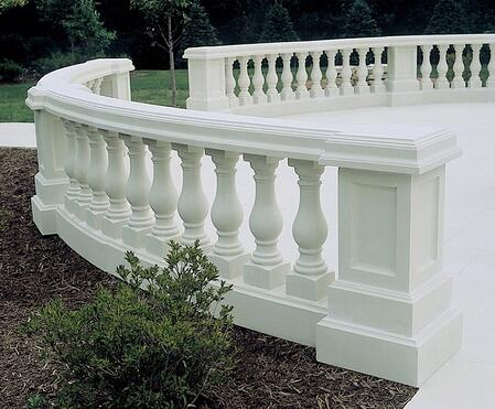 Traditional white balustrading by Melton Classics