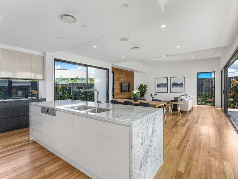 Natural stone benchtop in a Kalka display home kitchen