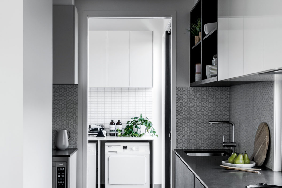 Kalka Rochedale display home kitchen and laundry