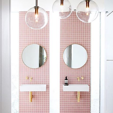 Artedomus Feature tiles adding a pop of colour and fun to an ensuite. Image courtesy of Pinterest.